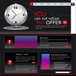 Royalty-Free Stock Vectorielle: Vector Web site for business. Black with green sprout