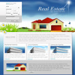 Постер, плакат: Vector website for the organization of business real estate agen