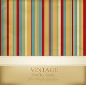 Vector vintage gestreepte abstracte achtergrond — Stockvector