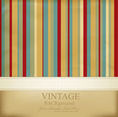 Vector vintage striped abstract background — Vector de stock