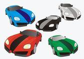 3d auto silhouette — Stock Vector