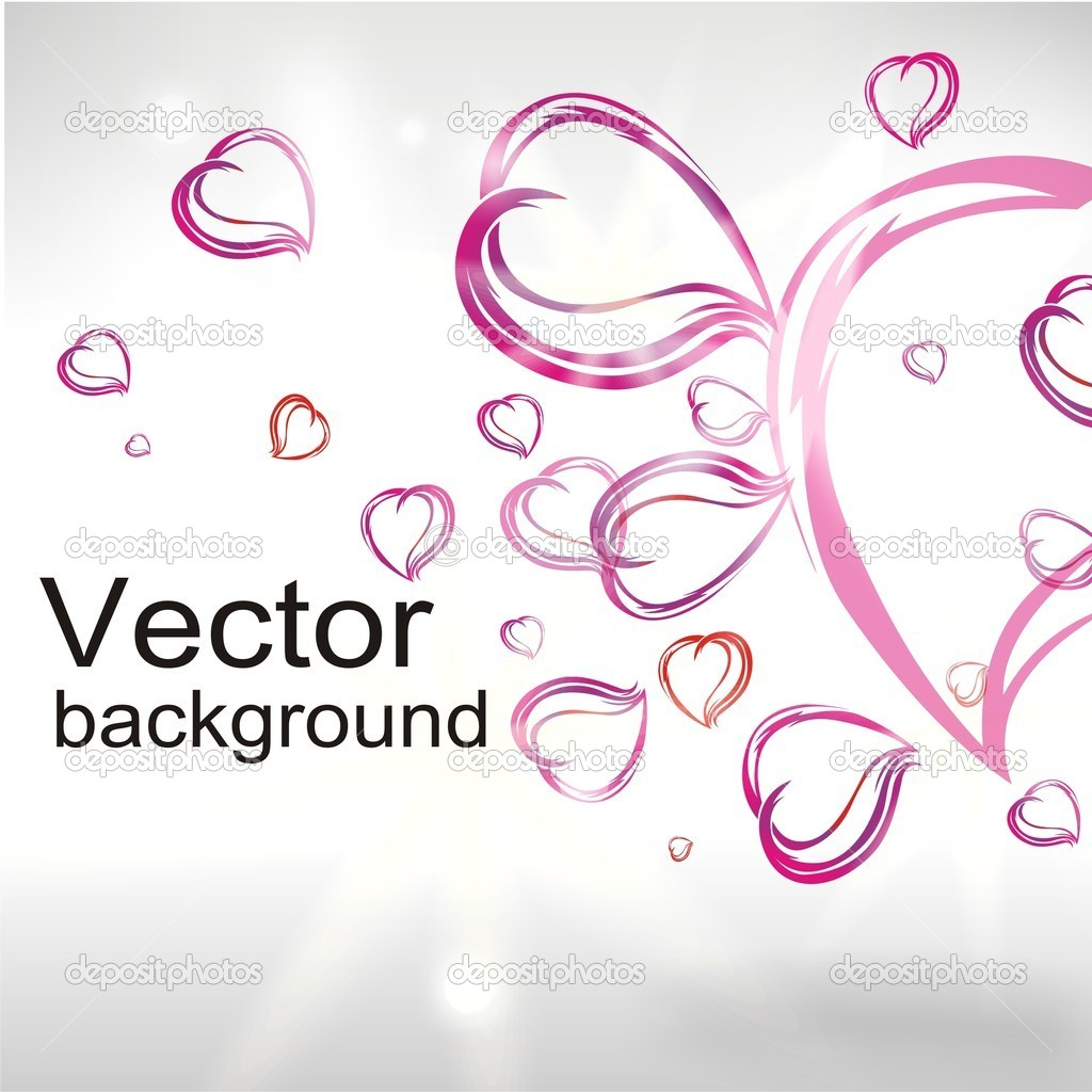 Abstract background from hearts  Stock Vector #4088129