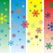 Vector Colorful snowflakes - Stok Vektör