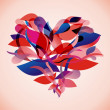 Abstract floral heart — Imagen vectorial