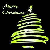 дерево рождество или новый год — Cтоковый вектор