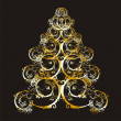Christmas or new year tree - Imagen vectorial