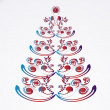 Christmas or new year tree — Imagen vectorial