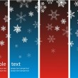 Christmas background with snowflakes — Stockvectorbeeld