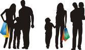 Family shopping — Stock Vector