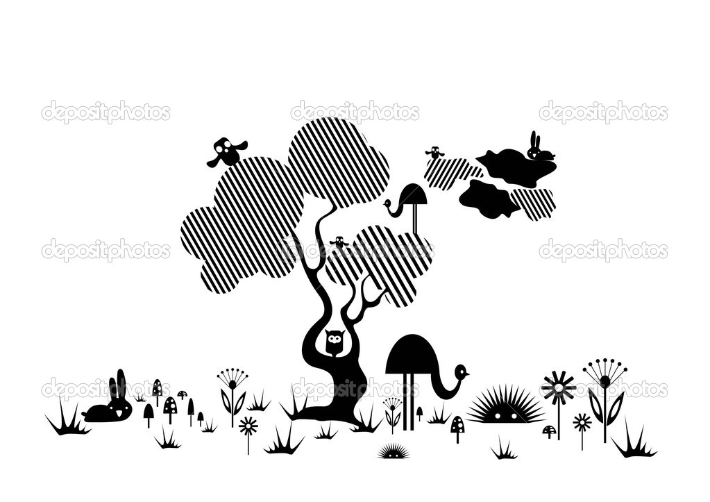 Tree Plan Vector Vector Abstract Tree With