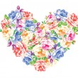 Heart from flowers — Stock Vector #4578633
