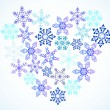 Vector de stock : Heart from snowflakes