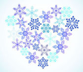 Heart from snowflakes — Stock Vector