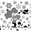 Stock Vector: Abstract winter