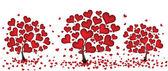 Tree from hearts — Stock Vector