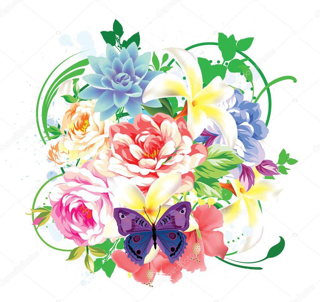 Color Floral Background Colorful Floral Background