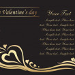 The Valentine's day — Image vectorielle