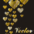 Colorful hearts — Stock vektor