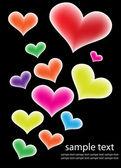 Corações coloridas — Vetor de Stock