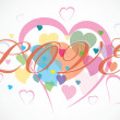 Colorful hearts — Stock Vector