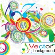 Stock Vector: Abstract colorful music background