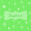Royalty-Free Stock Vector Image: Retro Snowflakes Card in Green