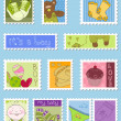 Royalty-Free Stock Vector Image: Baby Boy Postage Stamps