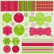 Royalty-Free Stock Vector Image: Christmas elements and patterns, vector