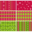 Stock Vector: Set of Christmas Backgrounds for design