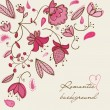 Romantic floral background - Vektorgrafik