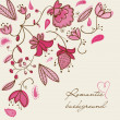 Romantic floral background - Image vectorielle