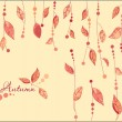 Autumn Leaves Vector Background — Stok Vektör