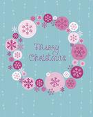 Merry christmas şirin kart — Stockvector