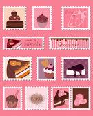 Set vector timbres-poste doux — Vecteur