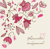 Romantic floral background — Stok Vektör