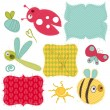 Stock Vector: Design elements for baby scrapbook in vector