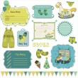 Design elements for baby scrapbook in vector — 图库矢量图片