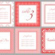 Invitation card template for wedding, birthday, anniversary — Imagen vectorial