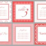 Invitation card template for wedding, birthday, anniversary — Stock Vector