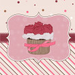 Royalty-Free Stock Vectorafbeeldingen: Beautiful Cupcake Card in vector