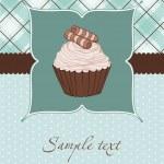 Beautiful Cupcake Card in vector — Stock Vector