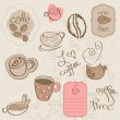 Vector set: Coffee design elements  in vector — Stock Vector