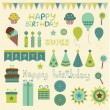 Royalty-Free Stock Vector Image: Retro Birthday Celebration Elements in vector
