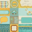 Royalty-Free Stock Obraz wektorowy: Design elements for baby scrapbook  in vector