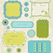 Royalty-Free Stock Vector Image: Design elements for baby scrapbook in vector