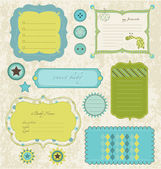Design elements for baby scrapbook in vector — Stock Vector