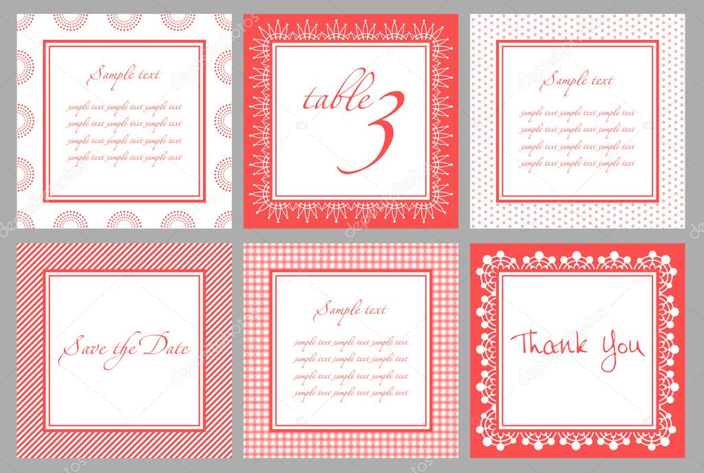 Invitation card template for wedding, birthday, anniversary in vector  Stock Vector #5232549