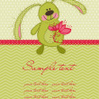 Cute Bunny Card - Image vectorielle