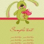 Cute Bunny Card — Stock Vector