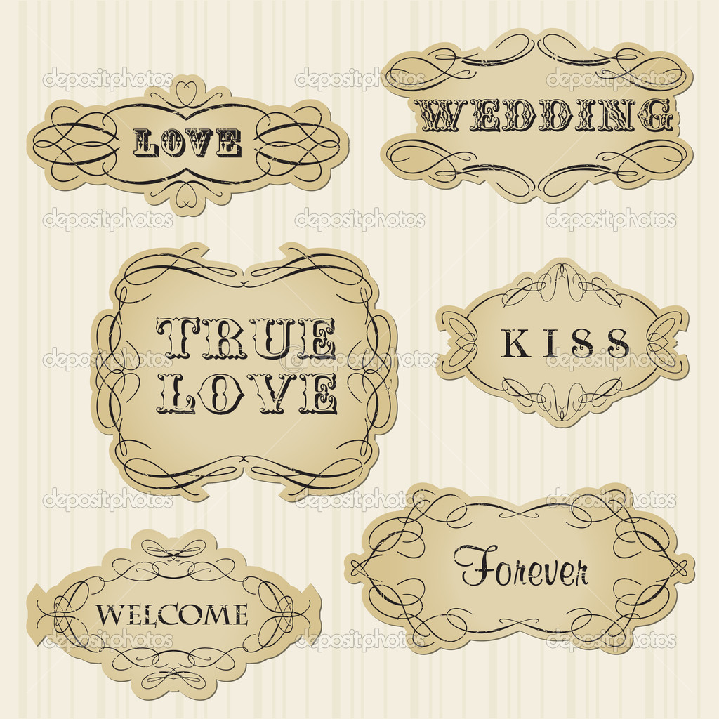 Vintage frames and design elements  — Stock Vector #5342682